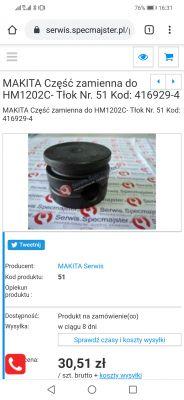 Makita HM1202C nie kuje, jaki smar do tego tloczka?
