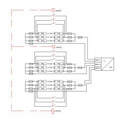 Realizacja ochrony dla strażka poprzez rozłaćzniki DC - zwarcie łańcuchów