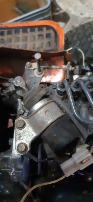 Traktorek Kubota GT950 jak jest gaszenie