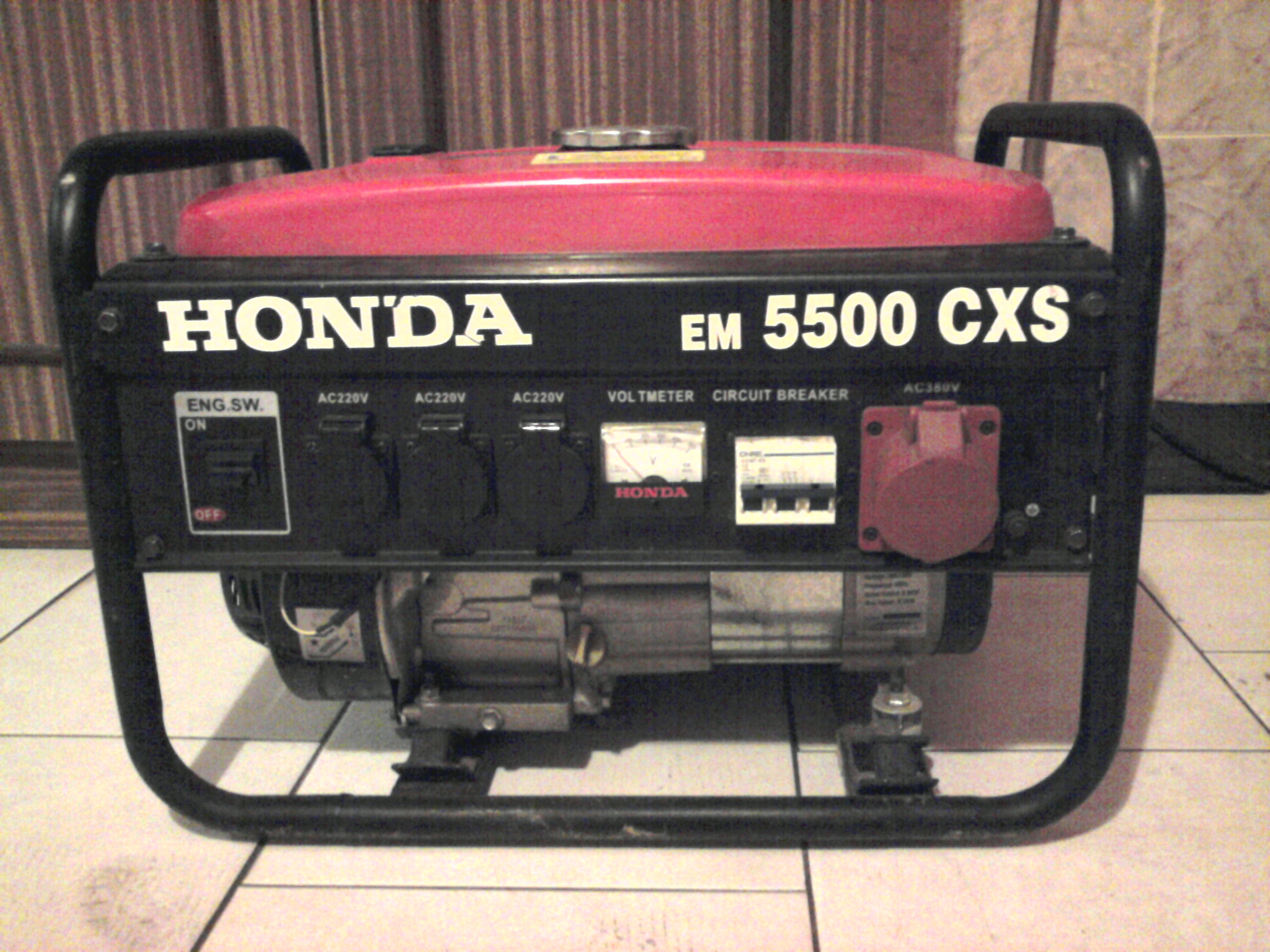 Agragat  pseudo Honda EM 5500 CXS - schemat uzwojenia.