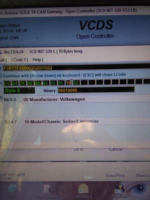 Vw Passat b6 2,0 CBAB - brak blokady kierownicy błąd 2638