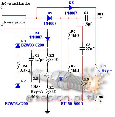 Router 50ccm - Schematy cdi 4t.