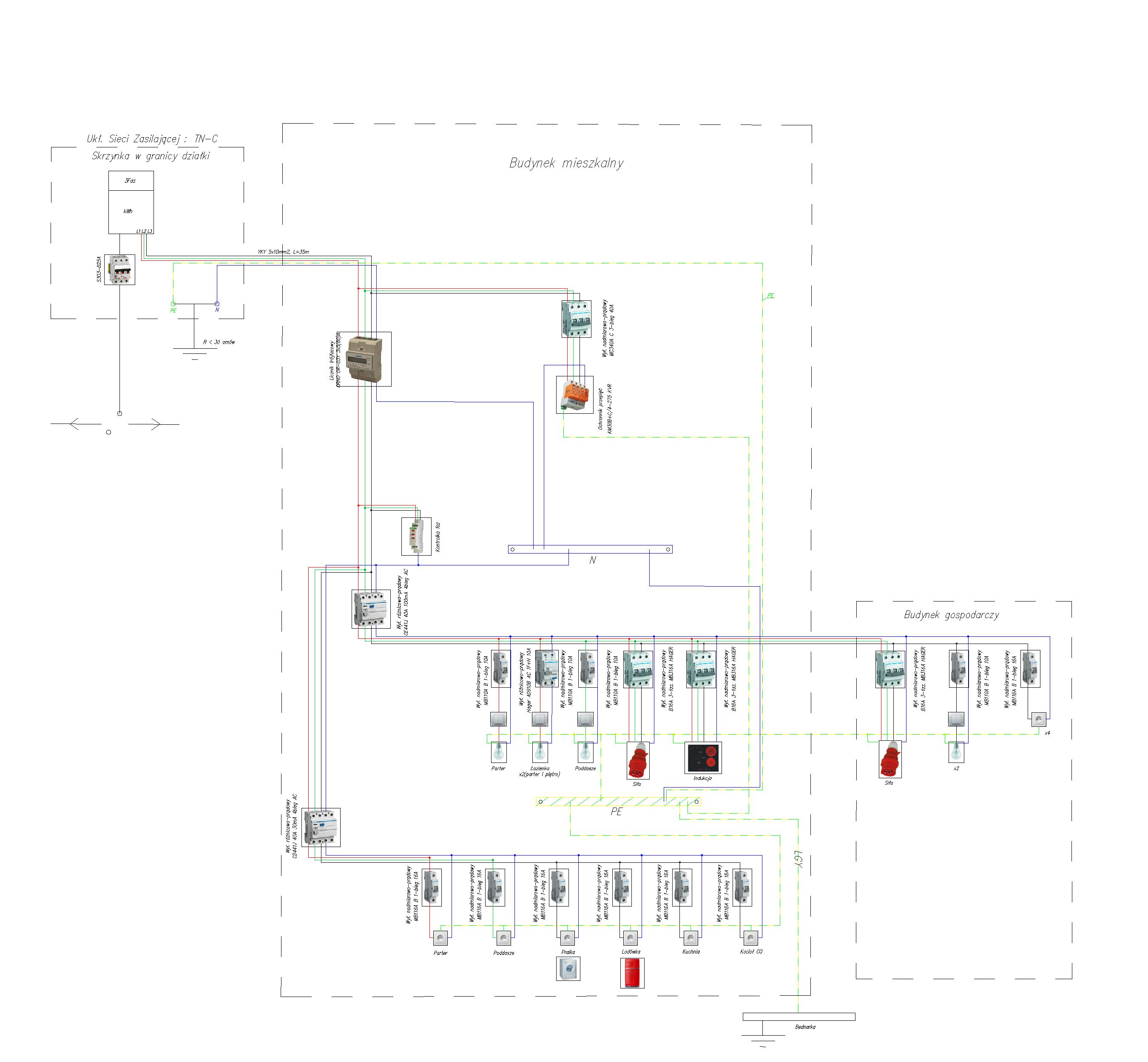 Instalacji Elektryczna W Domu Schemat Elektrodapl