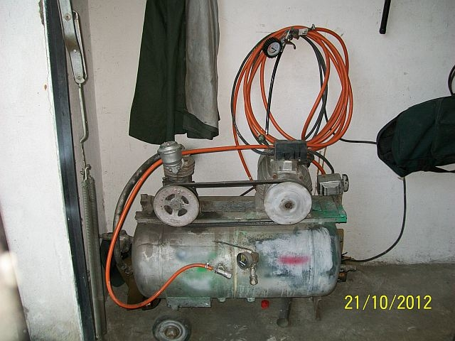 Budowa kompresora na zbiorniku od ASPA 3JW60
