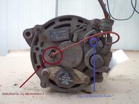 Passat B3 - Brak wzbudzenia alternatora.