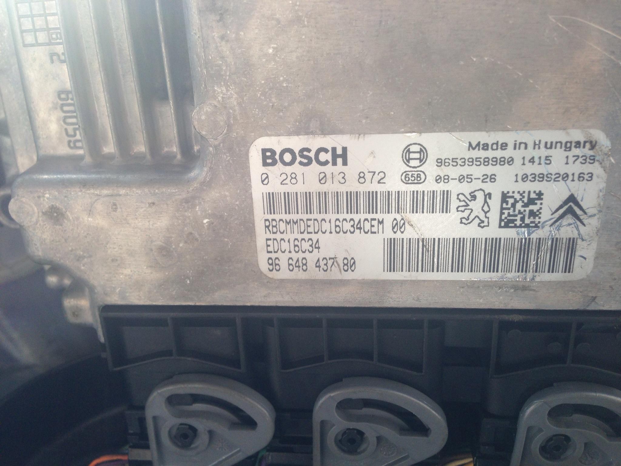 c5 1,6HDI 110 FAP - ECU plik bin , nie dziala wypalanie fap Nowy filter zapchan