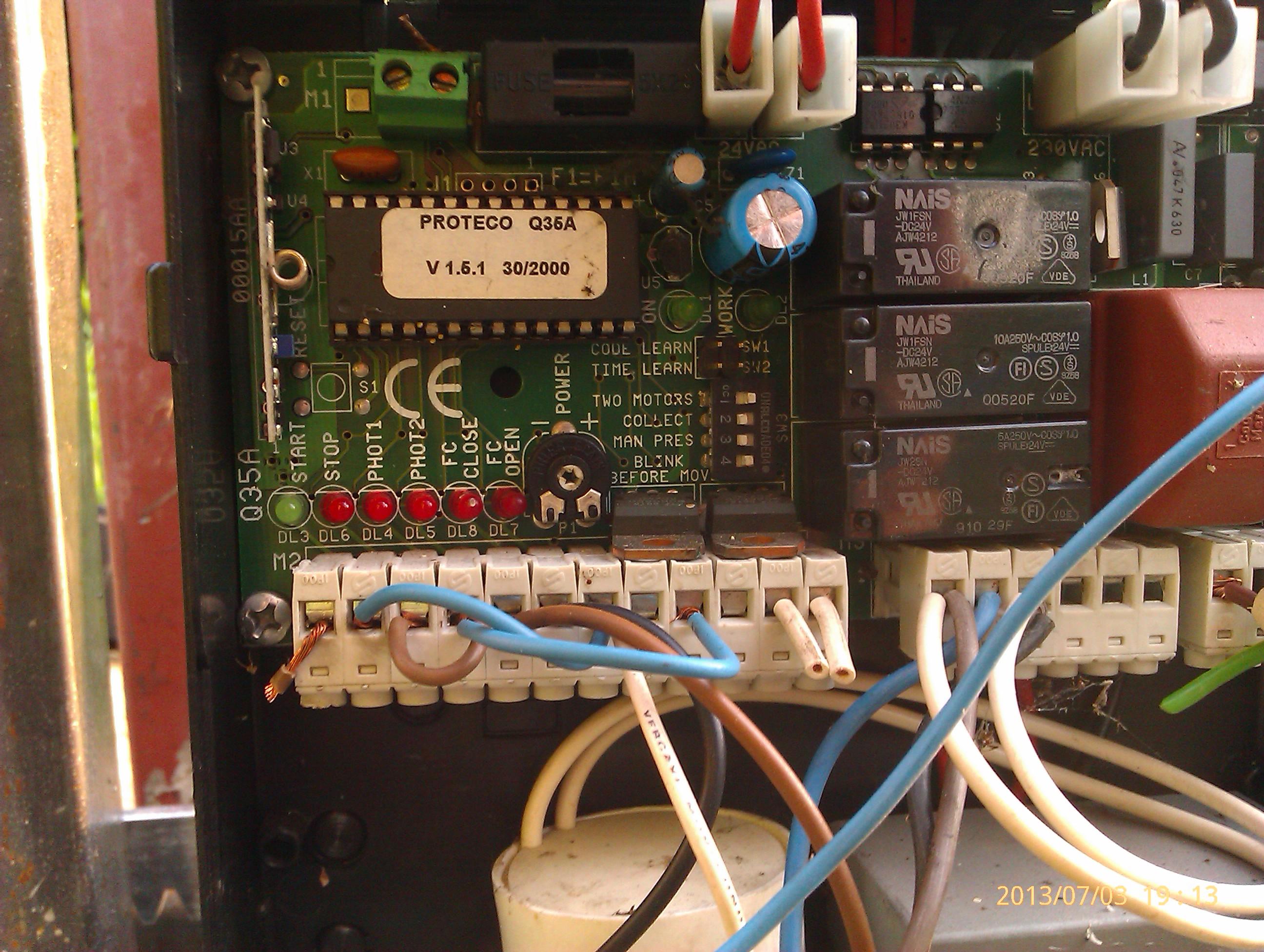 proteco mover 5 centralka Q35a programowanie czasu - szukam instrukcji