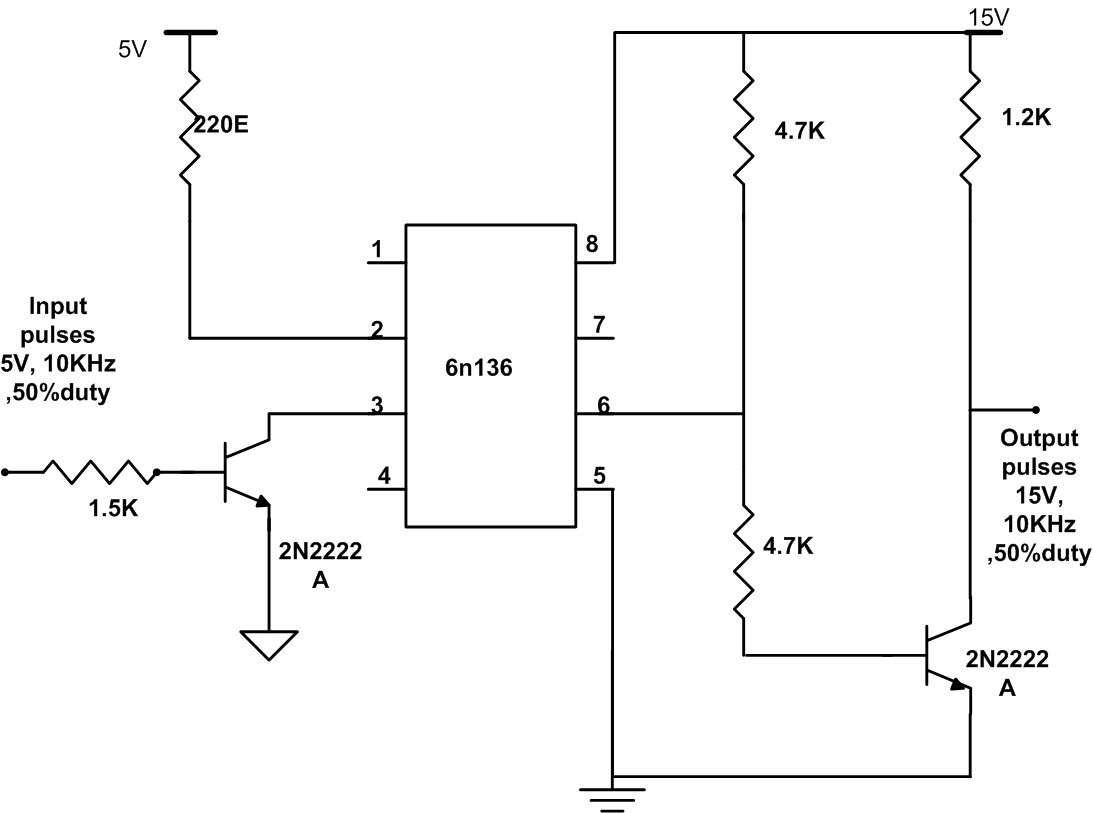 optocoupler circuit dead band creation