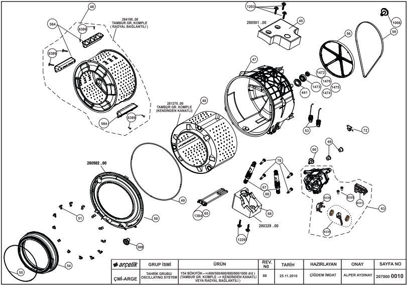 pralka/beko/WMD 55080 - Wymiana simering �o�ysko