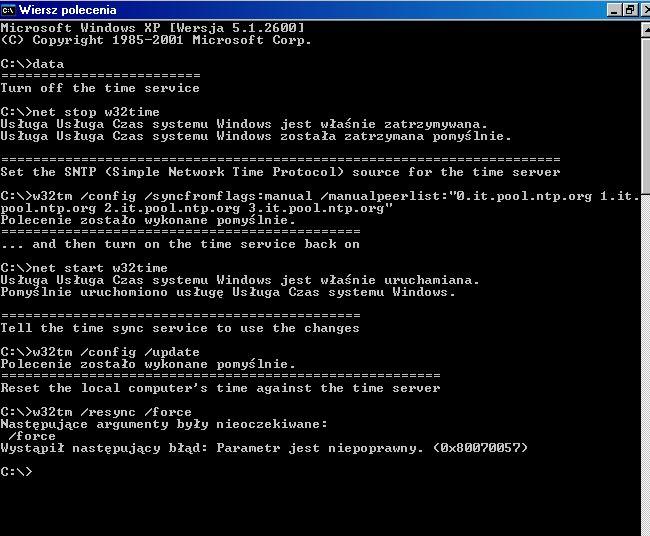 Windows Xp Jak Wymusić Aktualizację Daty W Laptopie Z
