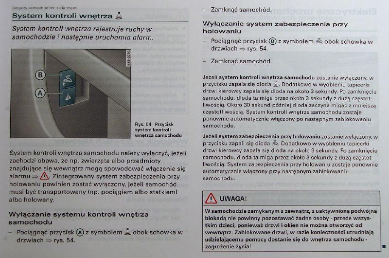 Audi A4 B6 - po roz�adowaniu akumulatora nie dzia�a alarm i samoch�d nie odpala