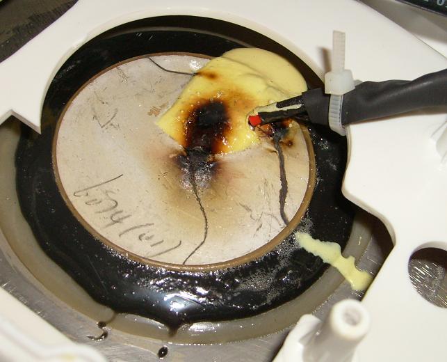 Wanna ultrad�wi�kowa spalony przetwornik piezoelektryczny