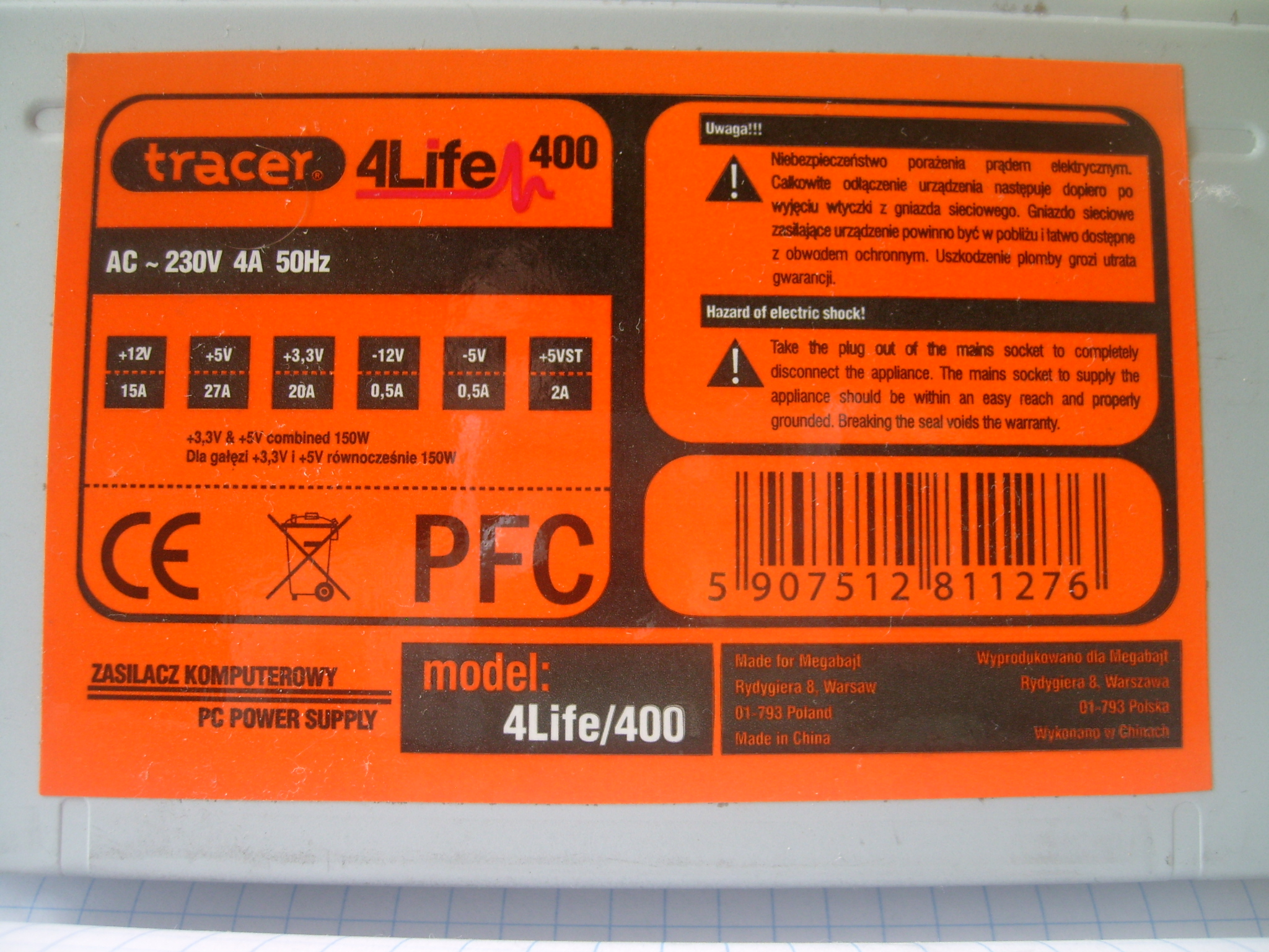Tracer model: 4Life400 - Napi�cia spadaj� do zera
