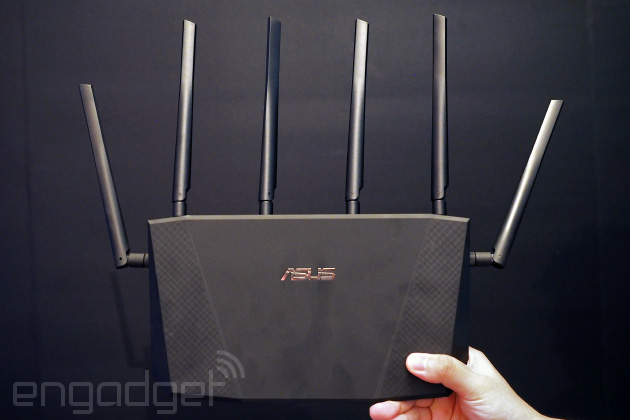 ASUS RT-AC3200 - router Wi-Fi 802.11a/b/g/n/ac z MIMO 3�3