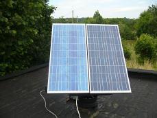 Mała elektrownia słoneczna.