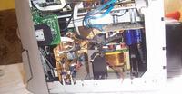 wieża Philips FW830C, spalony transformator mocy
