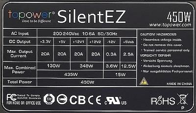 TOPOWER model: SilentEZ 450 nawijanie dławika w APFC