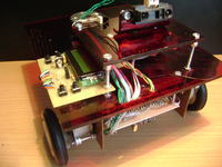 Robot 3 kołowy, bluetooth, silniki krokowe.
