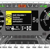 Mercedes Actros Mp2 - nie działa podświetlanie kilometrów i godziny