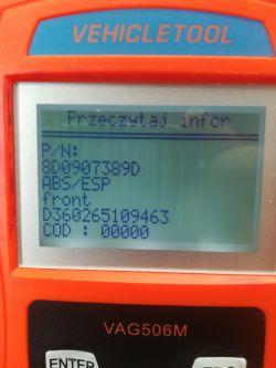 Vw/Passat b5/1.8 adr - Problem z kodowaniem abs /esp Passat b5 1.8 adr