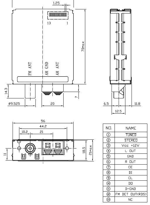 LC72131 w głowicy, jak sterować z attiny13