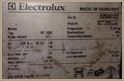 Lodówka absorpcyjna Electrolux RC160 - Za mocno chłodzi