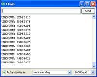 SONY RM-X6S A-UNO - Błędny odczyt danych Hi-IR (TSOP 7000 - 455kHz)