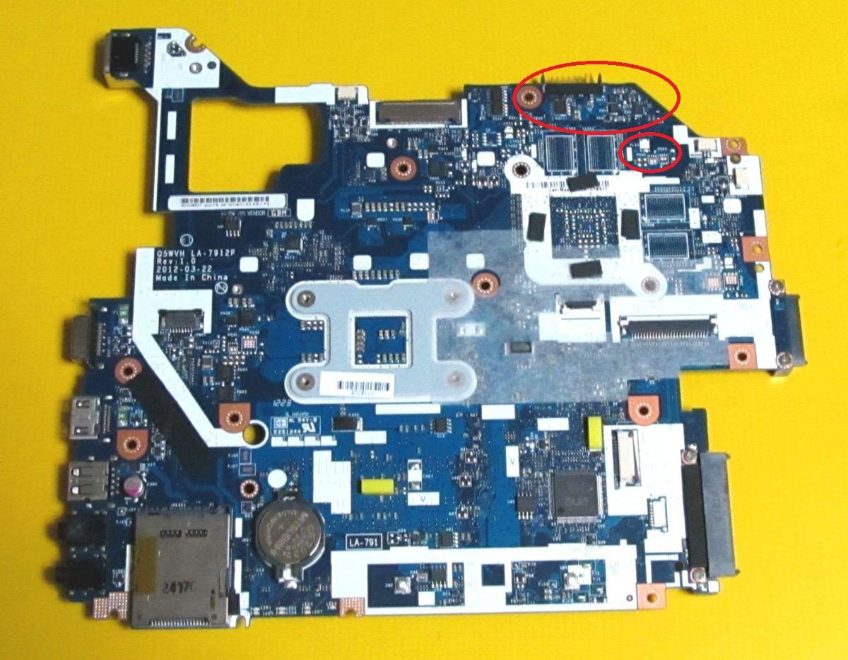 Acer E1-571G - Zalany laptop - naprawa czy wymiana p�yty g��wnej?