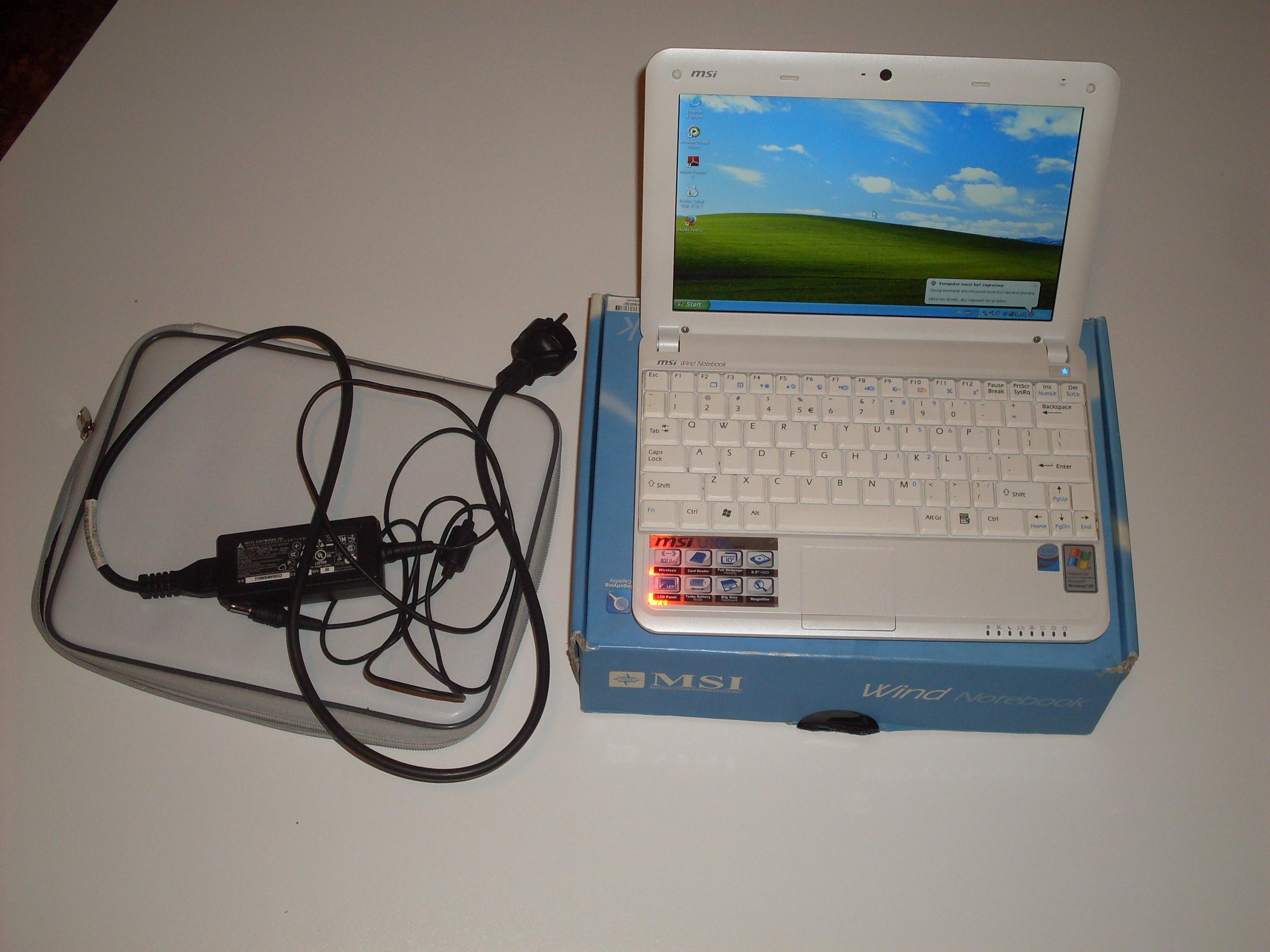 [Sprzedam] Netbook MSI U100 2GB RAM, 10 cali, licencja windows XP
