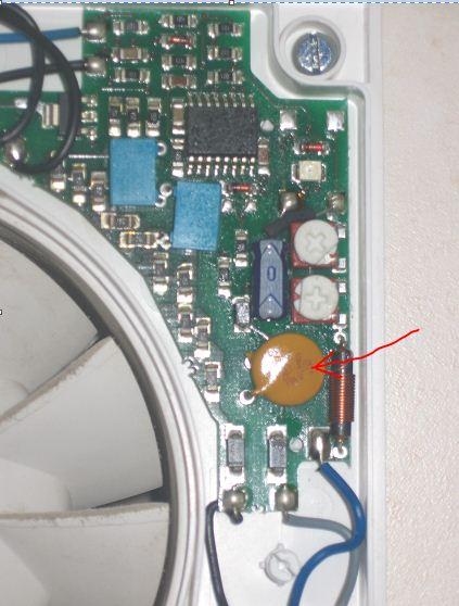 Wentylator �azienkowy z higrometrem Silent 100 Uszkodzona elektronika
