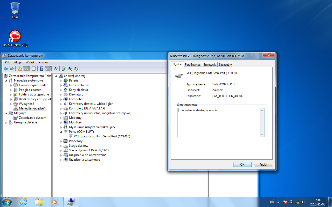 Autocom/Delphi - Brak wykrycia VCI - VCP - elektroda pl