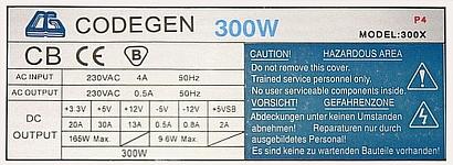 Codegen model: 300X rev. CG12 naprawa uszkodzenia.