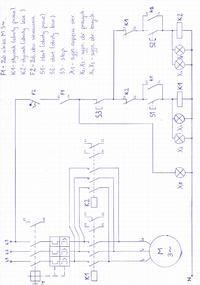 Schemat Sterowania - Schemat sterowania silnikiem tr�jfazowym.