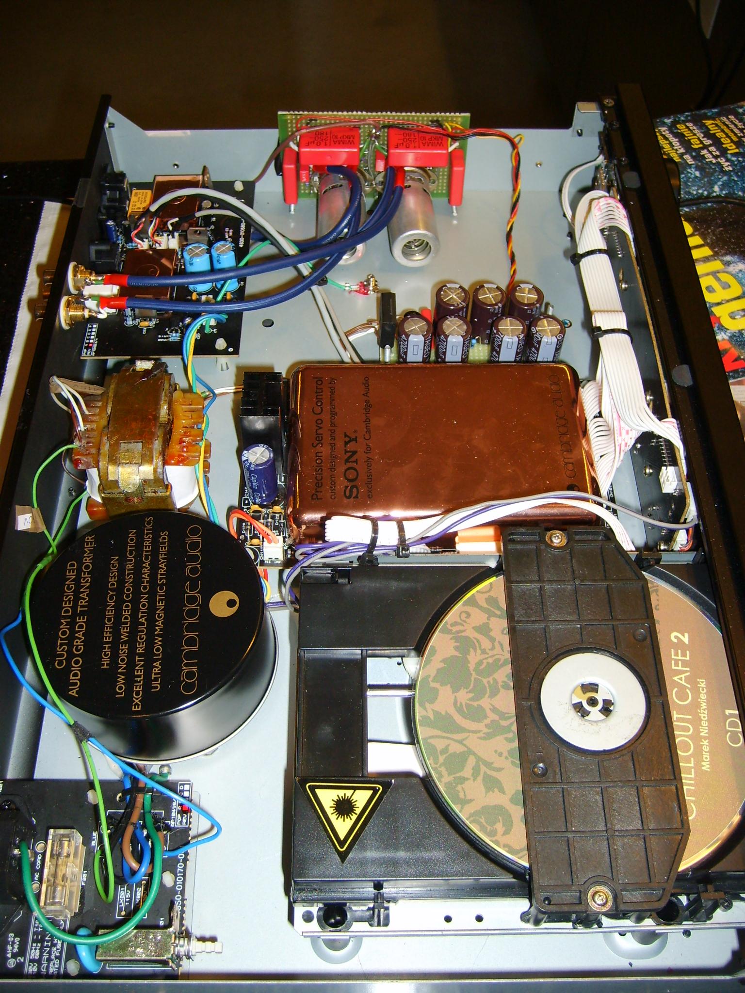 Modernizacja (tuning) Cambridge Audio D300/lampizacja.