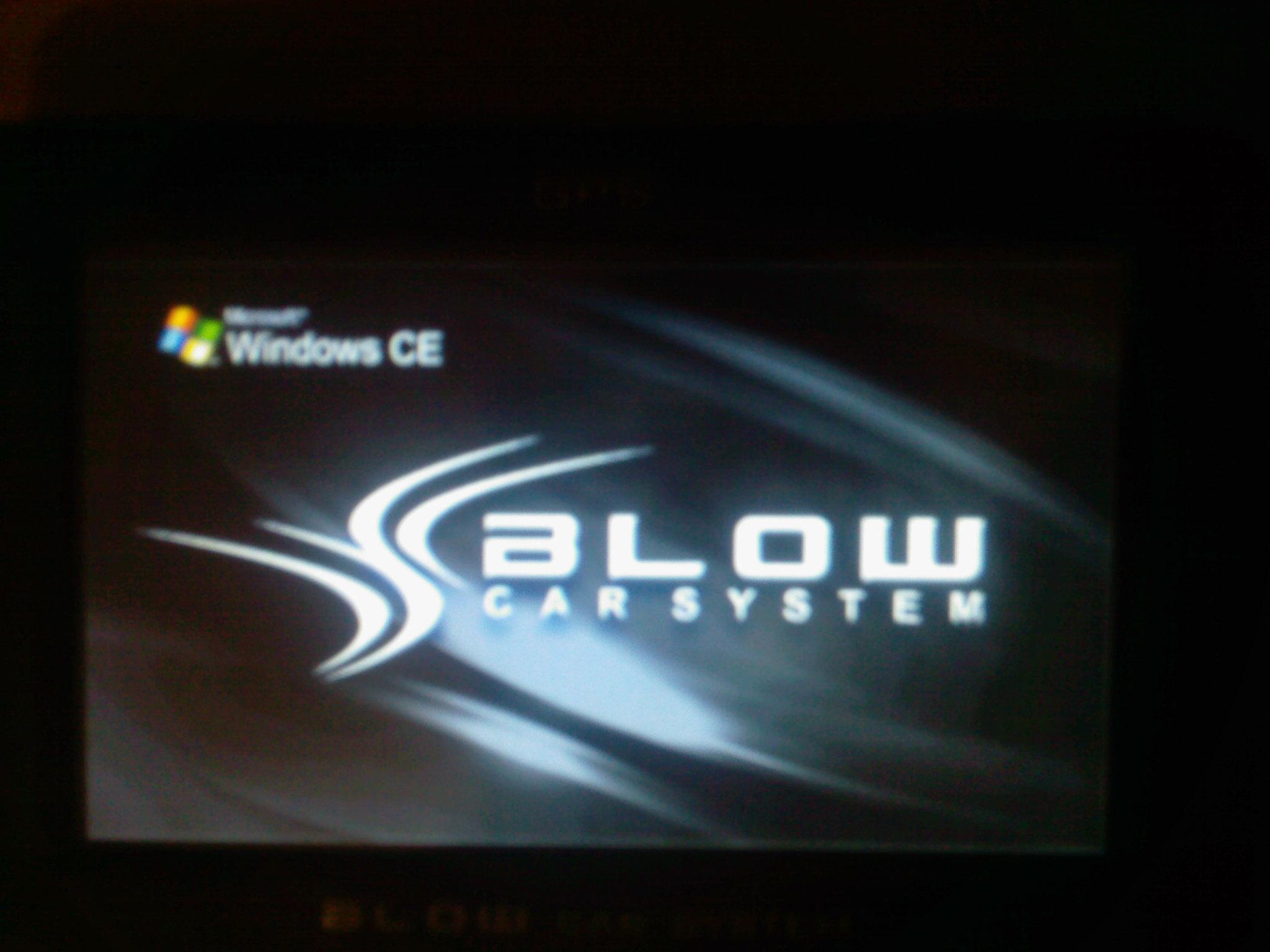 BLOW GPS50YBT - Staje na ekranie startowym