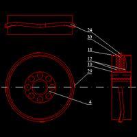 N-okresowy silnik spalinowy z tłokiem obrotowym