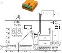 Proteco Q60A/R podłączenie zewnętrznego sterownika radiowego Proxima NW2