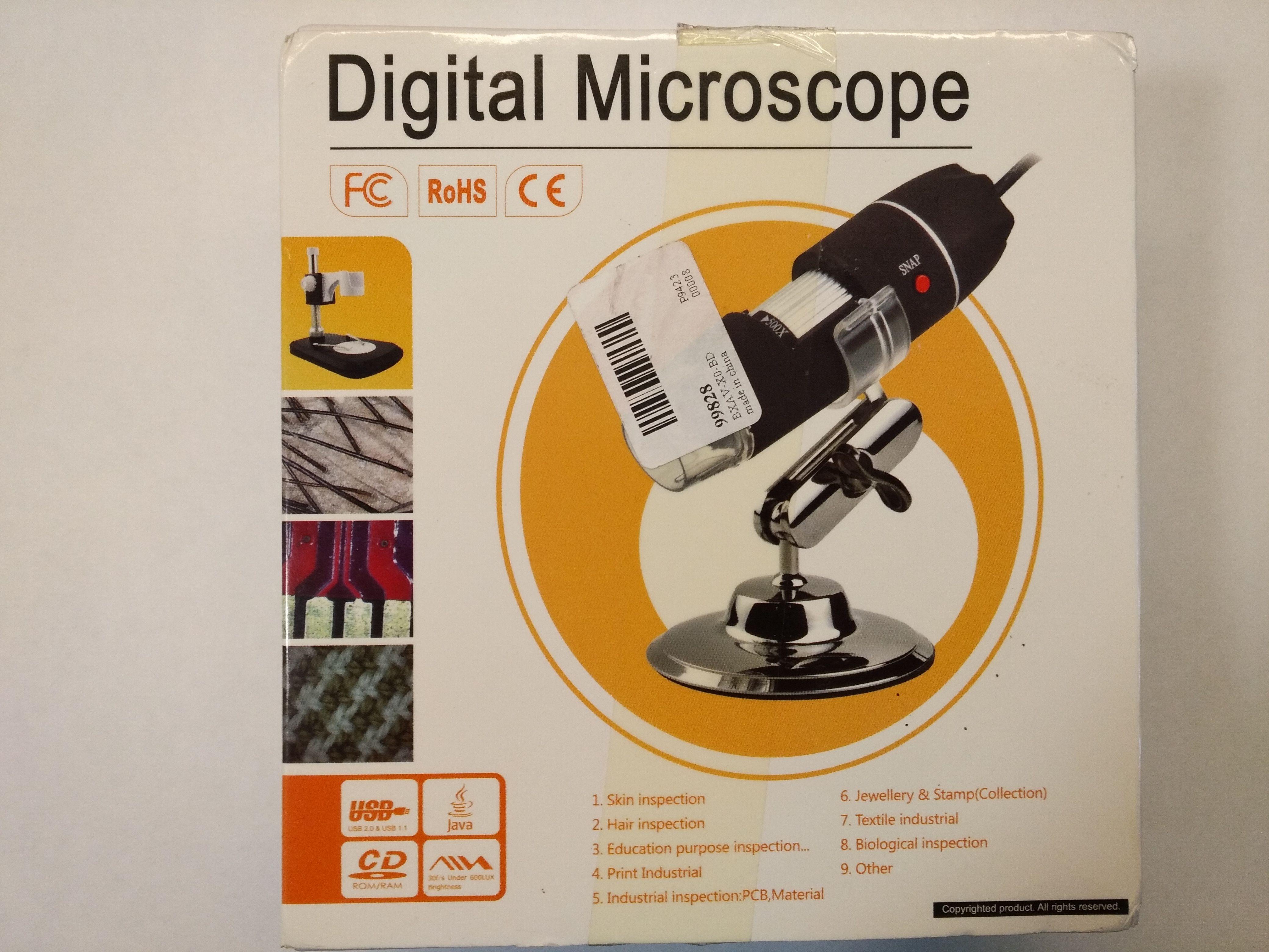 Mikroskop usb 500x: usb makro fotografický mikroskop se zvětšením x