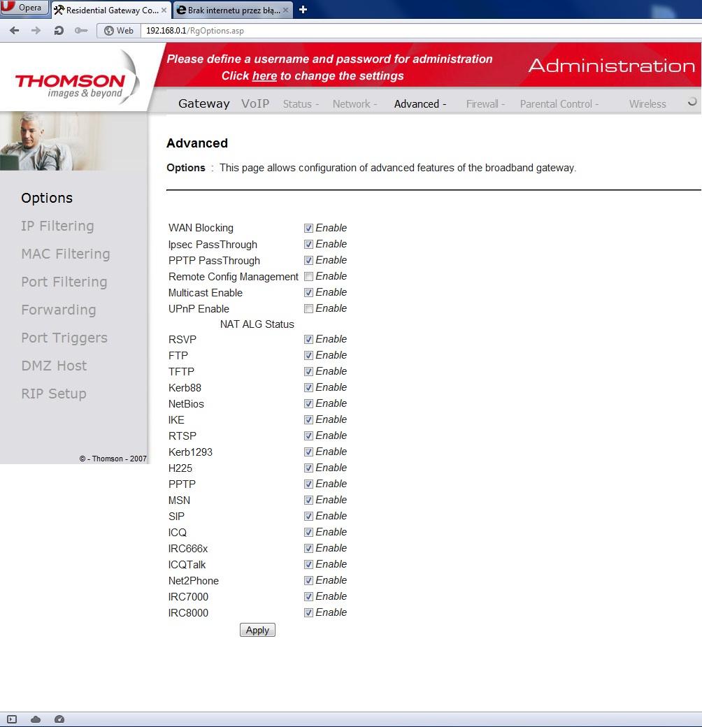 Brak internetu przez b��d serwera dns