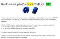 Nice bio 40.685 kopiowanie pilota