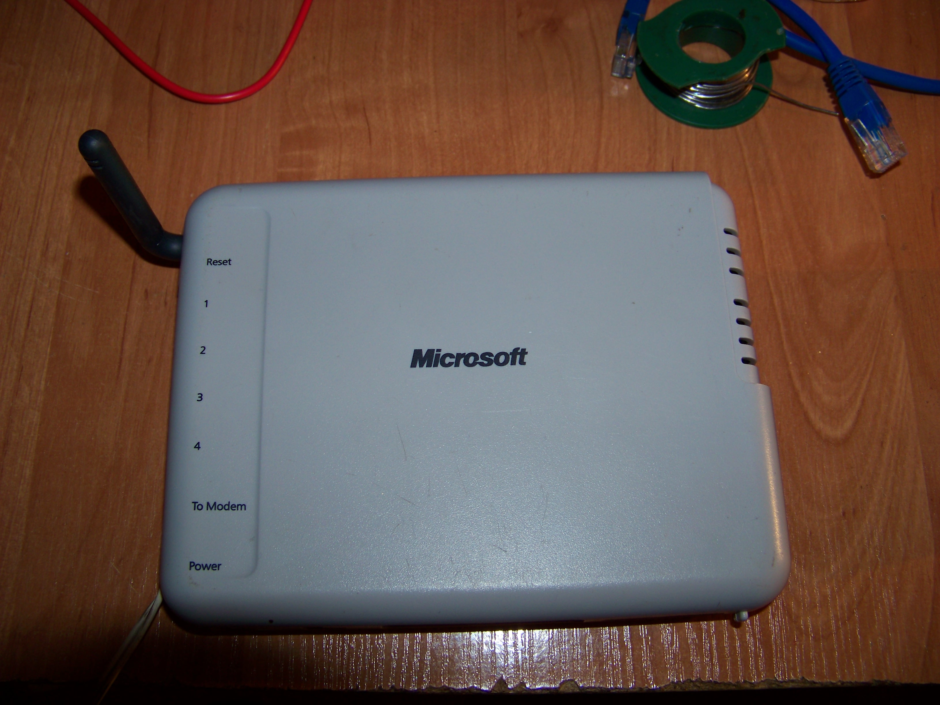 "Router Microsoft MN-500 port ""To Modem"""