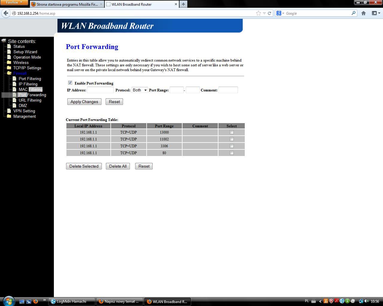 Zablokowane porty-internet radiowy