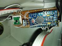 Radio FM - RDA5807M + PAM8403 + MAX7219 + Arduino Pro Mini