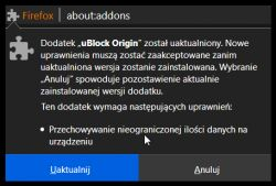 Niebezpieczny dodatek do Firefox-a - uBlock Origin?