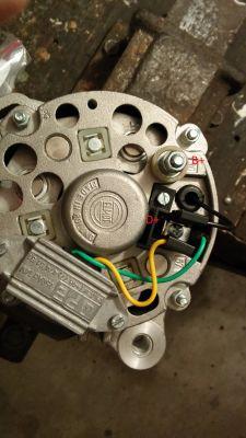 alternator - wątpliwości odnośnie przewodów