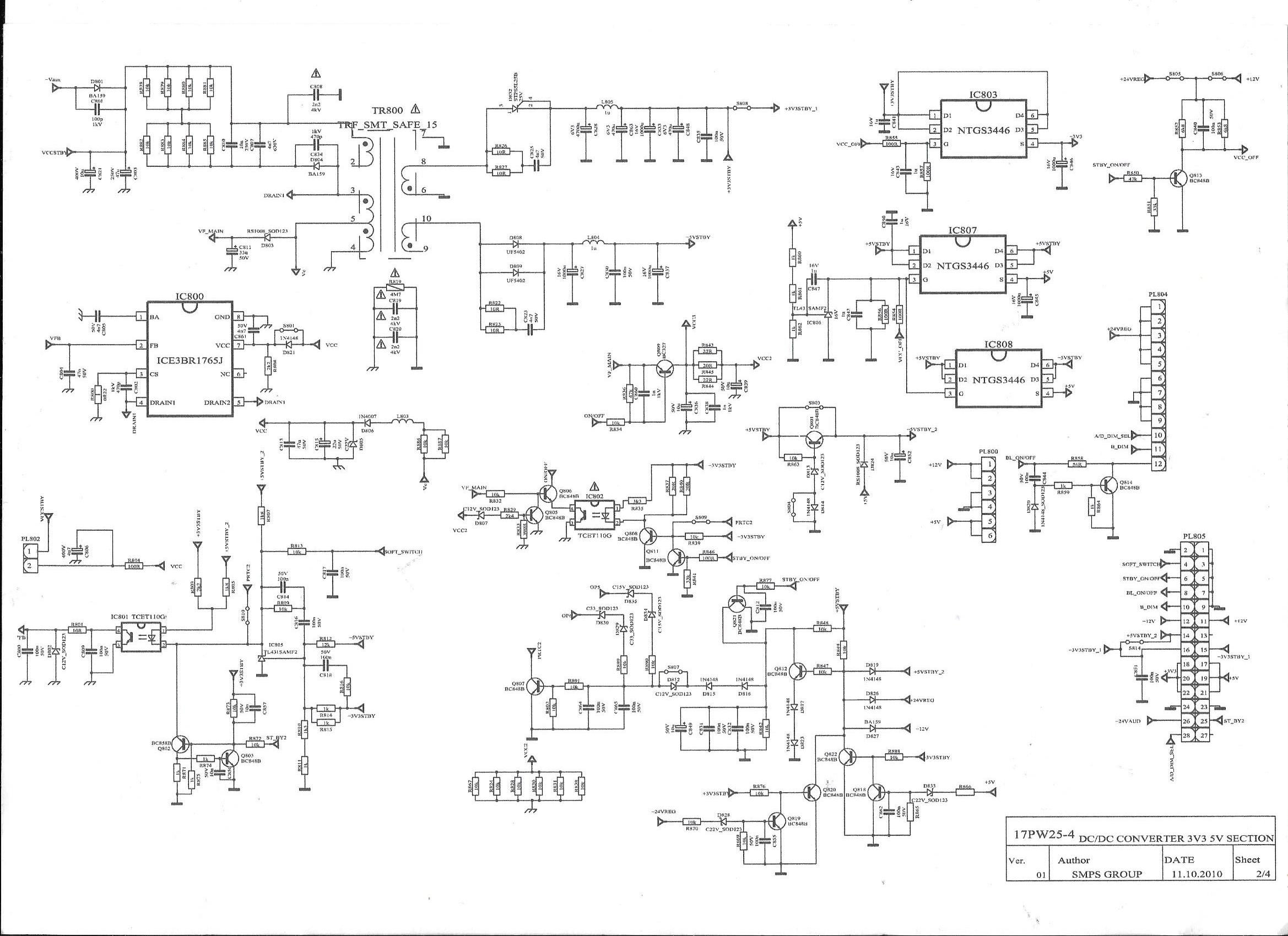 Tv Lcd Akai Akfl3277h Nie Wcza Si I Przechodzi W Stand By 17pw25 4 Circuit Diagram