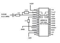 Wzmacniacz sygnału - niepoprawne działanie AD8016