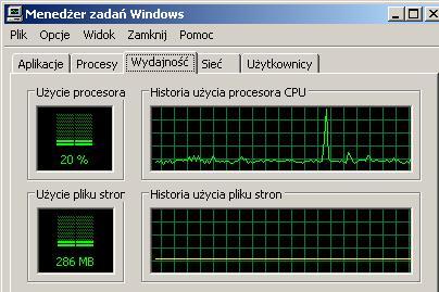 100% użycia procesora niezależnie od włączonego programu