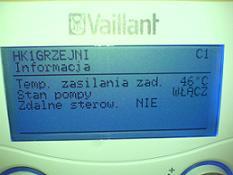 Vaillant VKS ecoVIT plus - regulacja