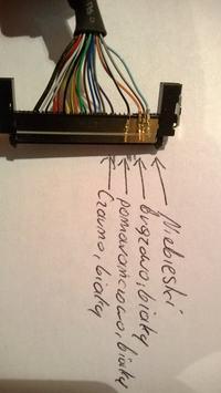 TV Technika LCD 32 - przewód podłączenia matrycy